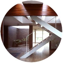 vivienda unifamiliar godella escalera