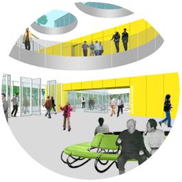 interiro vestíbulo nuevo ayuntamiento en almussafes